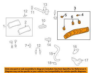 Buick GM OEM 04-05 LeSabre Dash Cluster Switch-Cluster Bezel 25759069