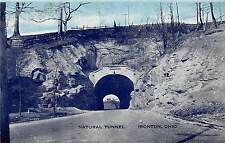C46/ Ironton Ohio Postcard c1940s Natural Tunnel Roadway Lawrence County