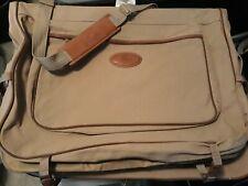 2x FORD Eddie Bauer Edition Khaki Canvas Folding Hang-Up Garment Bags Luggages