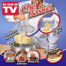 Chef Basket Kitchen Cooking Tool Steam Rinse Strain Deep Fry