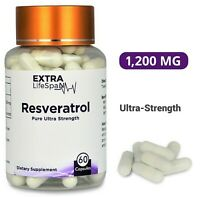 Resveratrol (1200mg x 60 Capsules) Japanese Knotweed (Australian Supplier)