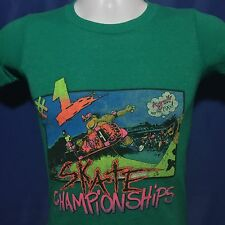 VTG 1980s Skate Championships T Shirt 80s cartoon Skateboarding 80s Youth M/XXS