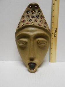 Clay  pottery wall hang decorative mask Mascara em Ceramica Marliese Vincenzi