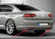 Doppel Auspuffblenden (Look) für VW PASSAT B8 Modelle ab Bj.2015 - Edelstahl