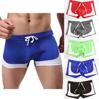 Boxer Briefs Underwear Swim Shorts Pants Men's Swimming Trunks Sexy Swimwear US