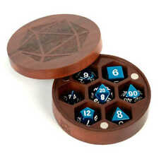 Wood Round Dice Chest ~~ Purple Heart ~~ MDG Metallic Dice Games