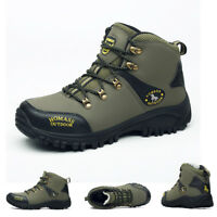 Man Outdoor Skid Resistance Hiking Waterproof Climbing Mountaineering Boots
