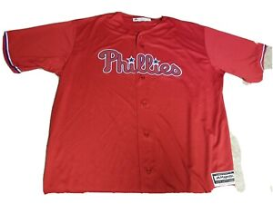 Nwot Philadelphia Phillies Stitched Jersey Sz 3 XL Majestic Coolbase Red