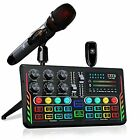 Audio Mixer Kit for Podcast & Streaming, USB Live Sound Card with Studio UHF