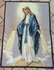 Our Lady of the Miraculous Medal Tapestry 70x50 CM -ITALY- Blessed upon request