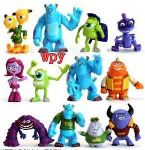 12 PCS Monsters Inc. Monsters University Mike Sully Action Figure Toy Loose