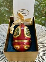 Mr Christmas Musical Egg Ornament CANDLELIT TREE Valerie Parr Hill FREE SHIP!