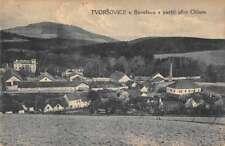 Tvorsovice Czech Republic Chlum Scenic View Antique Postcard J80057