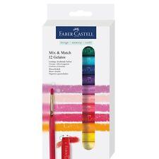 #121812 Faber Castell set di 12 Bastoncini Watersoluble Pastelli & Pennello Misto Craft