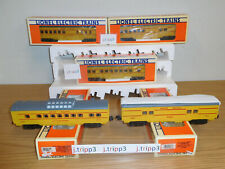 LIONEL UNION PACIFIC UP STREAMLINED PASSENGER 5 CAR TRAIN SET LIGHTED O GAUGE