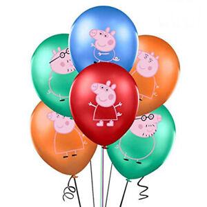 "10PCS 12"" Peppa Pig Family Latex Balloons Kids Birthday Party Decorations"