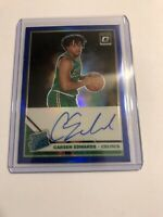 CARSEN EDWARDS 19-20 OPTIC BLUE HOLO PRIZM PARALLEL ON CARD AUTO ROOKIE RC 30/49