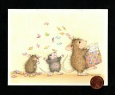 House Mouse Birthday Mice Throwing Confetti - Small Blank Note Greeting Card