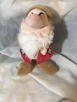 """Disney Store Grumpy Snow White & Seven Dwarfs Plush Toy Dwarf Patch 12"""" Doll"""