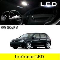 Kit 12 ampoules à LED pour l'éclairage intérieur blanc Volkswagen Golf 5