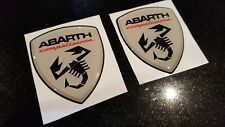 Fiat 500 595 695 Abarth wing Self adhesive high gloss exterior Badges 65mm tall