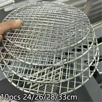 Details about  /10x Round Disposable Barbecue Cook Net Grill Mesh Racks Grid Grate Picnic Tools