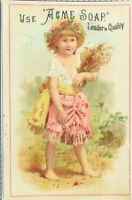 1870's-80's Acme Soap, Charles A. Bacon, Grocer Victorian Trade Card F103