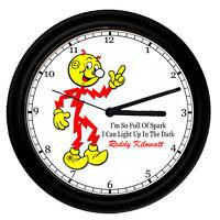 Reddy Kilowatt Electrician Electrical Tool Utility Retro Vintage Sign Wall Clock