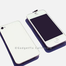 White LCD Display Touch Screen Digitizer + Back Cover Housing for IPhone 4 CDMA