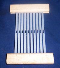 """10 o 12 ejes de abolladuras Con Cerradura Telar rígido lizos 7/"""" con soporte de segmento 2 8"""
