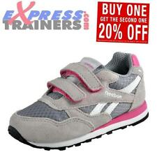 Chaussures grises avec attache auto-agrippant en cuir pour fille de 2 à 16 ans