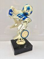 Football Trophy,Gold & Blue,Marble Base,150mm,FREE Engraving,**SPECIAL OFFER**