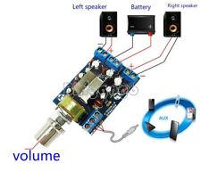 TEA2025B 2.0 Stereo Dual Channel 3W+3W Audio Amplifier Board 5V 9V 12V CAR D