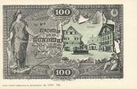 EARLY 1900's VINTAGE SWITZERLAND 100 FRANKEN BANKNOTE POSTCARD -UNUSED SARNEN PC