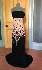 GORGEOUS LONG TALL SALLY  LONG SILK STRAPLESS EVENING DRESS, SIZE 14