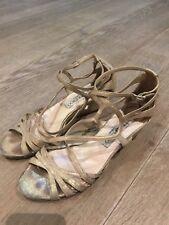 Jimmy Choo gold Sandales EU37.5 UK4.5