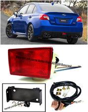 For 15-Up Subaru WRX STi JDM Red Lens Rear Fog Light Lamp W/ Mounting Bracket