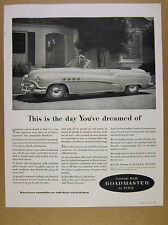 1952 Buick Roadmaster Convertible car photo vintage print Ad