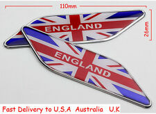 2X Decal Metal Emblem Badge Car Fender Side Sticker For Red Union Jack England