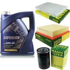 Motor-Öl 5L MANNOL Defender 10W-40 +MANN-FILTER Filterpaket VW Golf III 1H1 1.8