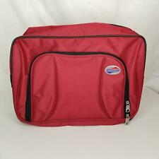 """American Tourister Womens Pocketbook Red Burgandy Luggage Tote Bag 15"""" Tall"""