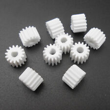 10PCS X 0.5M 15T D-Shape Plastic Spur Gear 0.5 Modulus 15 Teeth A 3mm 3D D-Shaft