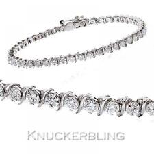3.00ct F VS Diamond and 18ct White Gold Bracelet Scroll Links Brilliant Cut