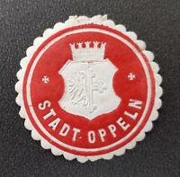 Siegelmarke Vignette Stadt Oppeln (8020-5)