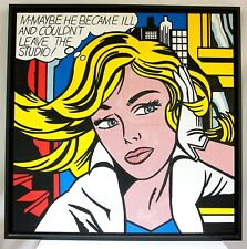 REPRODUCTION ROY LICHTENSTEIN M-MAYBE Acrylic on canvas 80 X 80 CM Pop Art