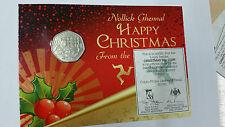 2000 Isle of Man Chrismas diamond finish 50p coin - Manx Bible translation