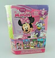 "Disney Minnie Storybook Puzzle 96 Pieces Featuring 8 Puzzle Panels 8"" x 36"" NEW"
