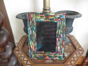 Art Deco style photograph frame with detailed lattice vibrant quality Gallery