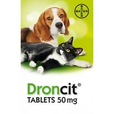 DRONCIT DOG & CAT WORMING TABLET WORMER DE-WORMER, (1 TABLET)