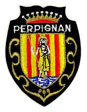 Ecusson brodé ♦ (patch/crest embroidered) ♦ PERPIGNAN